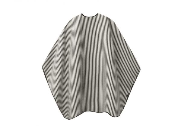 Trend Design Barber Cape schwarz/weiß gestreift Schneide- und Rasierumhang 145x170cm