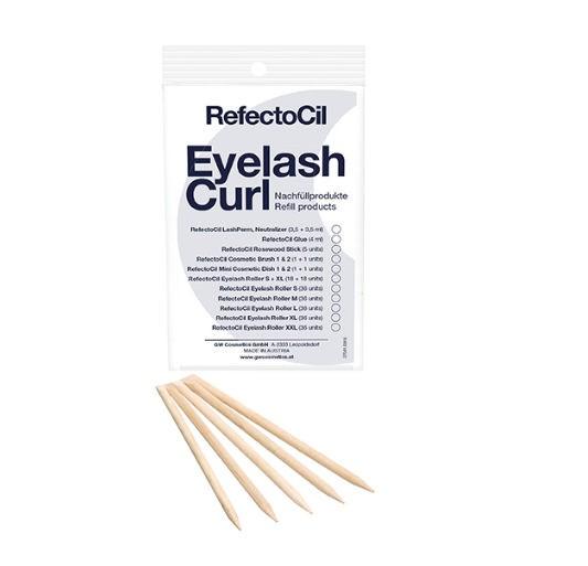 RefectoCil Eyelash Curl Refill Rosewood Sticks Rosenholzstäbchen 5 Stück
