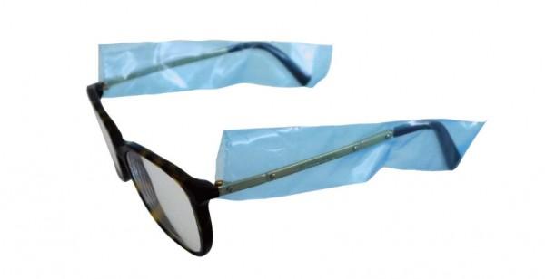 Comair Cover Brillenbügel Schutzhüllen, Box mit 200 Stück auf Rolle