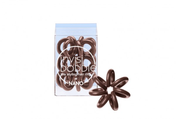 invisibobble NANO Pretzel Brown 3er Set