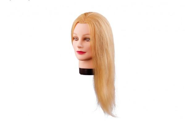 Comair Übungskopf Lilly 40cm blond Echthaar