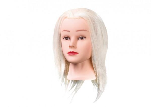 Comair Übüngskopf Mary 25cm weißes Angora Ziegenhaar