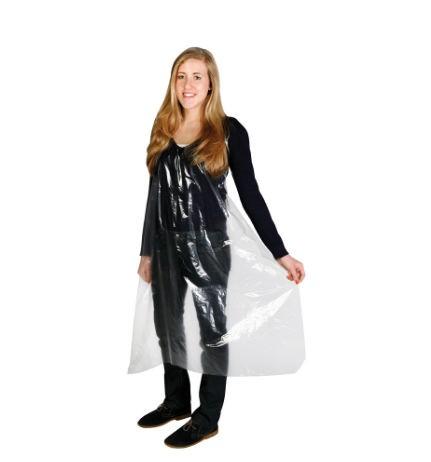 Comair Einweg Färbeschürze transparent glatt 25er Beutel