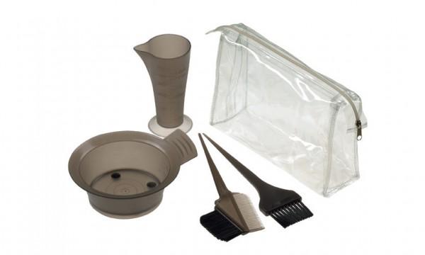 Comair Färbe-Zubehör-Set transparent und schwarz