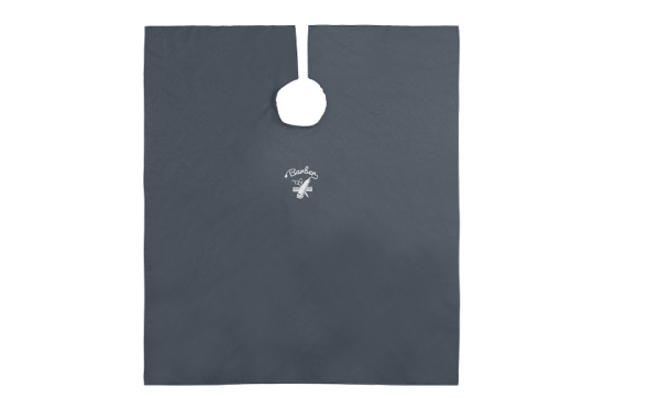 Comair Umhang Barber Denim 144x140cm, Hakenverschluss, Polyester, Stickerei