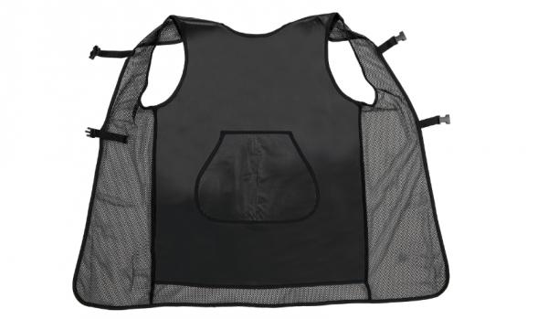 Comair Färbeschürze Mesh transparentes schwarz wasserabweisend, Netz-Rückenteil, atmungsak.