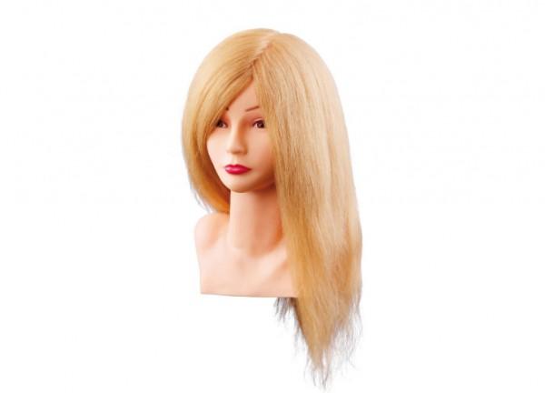 Comair Übungskopf Louisa 40cm blond Echthaar mit Büste