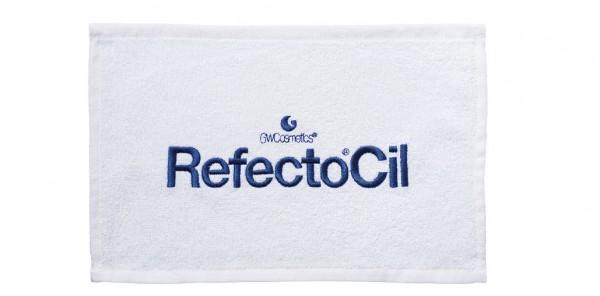 RefectoCil Augentuch 30x15cm weiß, 10er Beutel bestickt, 100%Baumwolle