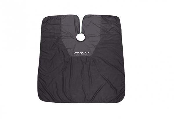 Comair Cut & Color Umhang 146x160cm schwarz, antistatisch,wasserabweisend,Hakenverschluss