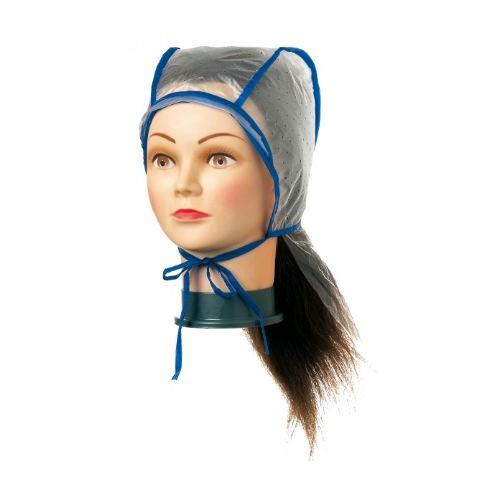 Comair Strähnenhaube plastik doppelt mit Nackenschutz