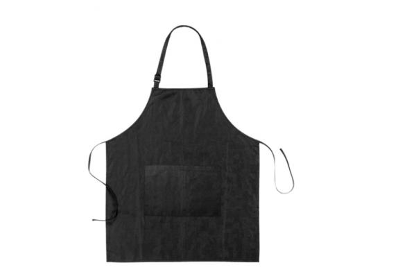 Comair Färbeschürze Relief, schwarz größenverstellb. m. aufges.Tasche, wasserabw.