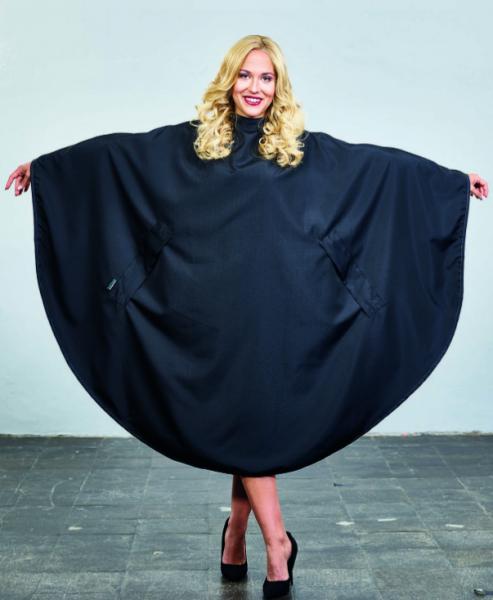 Trend Design Nano Ellipse schwarz Schneideumhang 145x170cm 100% Polyester,Hakenverschluss